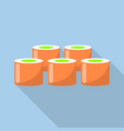 red sushi icon flat style vector image