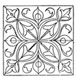 renaissance square panel comes from a robe in the vector image vector image