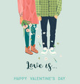 romantic with man and woman love vector image
