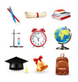 school accessories set vector image
