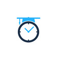 school time logo icon design vector image