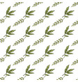seamless pattern with hand drawn plant elements vector image vector image