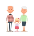Senior people happy leisure time with vector image vector image