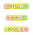 september october november spectrum banners vector image