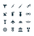 set army icons vector image vector image