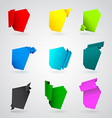 Set of origami paper banners vector image
