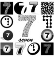 seven vector image vector image