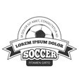 soccer logo badge template isolated vector image