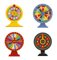 spin wheel banner concept set isolated vector image vector image