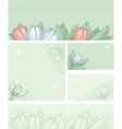 spring floral backgrounds vector image