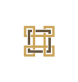square decorative ornament logo vector image vector image