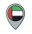 united arab emirates location pin vector image
