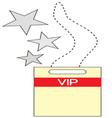 VIP Tag vector image