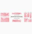 web banners bundle 9 popular sizes vector image vector image