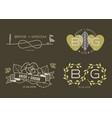wedding card templates vector image vector image
