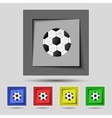 Football ball sign icon Soccer Sport symbol Set vector image
