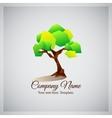 Company business logo with geometric green tree vector image