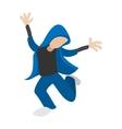 Hip hop dancer cartoon icon vector image