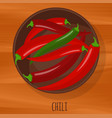 chili hot pepper flat design icon vector image