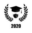 2020 quarantine extreme graduation party graduate vector image