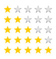 a five-star rating vector image vector image
