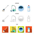 a mop with a handle for washing floors a green vector image vector image