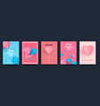 a set cards for celebration valentine s vector image vector image