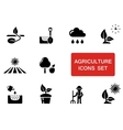 agriculture set with red accent vector image vector image