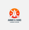 ammo and guns abstract icon symbol or logo vector image vector image