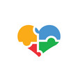autism icon design template isolated vector image
