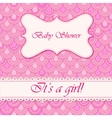 Baby shower flake background girl vector image vector image