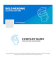 blue business logo template for belt safety vector image
