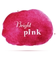 Bright pink spot Abstract stylish watercolor vector image vector image