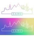 cairo skyline colorful linear style editable vector image vector image