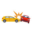 car insurance and accident risk vector image vector image