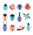 cartoon bugs vector image