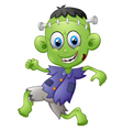Cartoon Frankenstein kid vector image