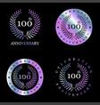 celebrating anniversary badges with elegent design vector image