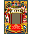 Circus Carnival Frame vintage 2d AurielAki vector image vector image