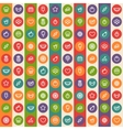 Color Striped Seamless Pattern with Dessert and vector image