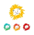 Colorful lions vector image