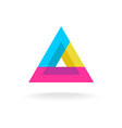 Colorful triangle logo vector image vector image