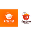 cooking cuisine cookery logo restaurant menu vector image vector image