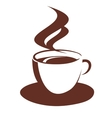doodle sketch steaming coffee cup vector image vector image