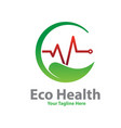 eco health logo designs vector image