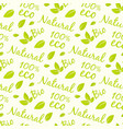 eco products seamless pattern design bio natural vector image vector image