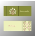Floral pattern green horizontal banner collection vector image vector image