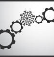 gear mechanism with snowflake vector image vector image
