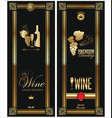 gold and black wine card vector image vector image