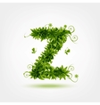 Green eco letter Z for your design vector image